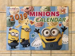 ミニオンサーティーワン2019ミニオンカレンダー