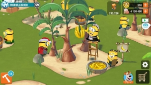 ミニオンパラダイス・バナナ収穫